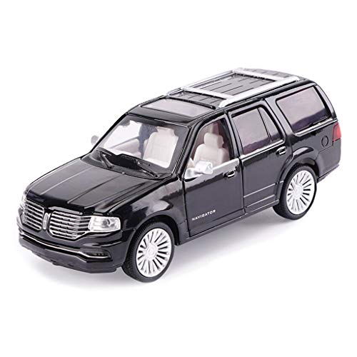 SXZHSM-Model car Car Model Car 1:32 Lincoln Navigator Simulation Alloy Die-Casting Toy Ornaments Sports Car Collection Jewelry 14.5x6x5.5CM (Color : Black)