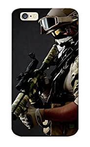 Inthebeauty Iphone 6 Hybrid Tpu Case Cover Silicon Bumper Weapon Soldier Army Gun Military