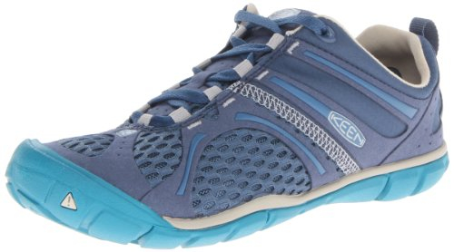 KEEN Women's Madison Low CNX Hiking Shoe,Ensign Blue/Pumice Stone,5.5 M US