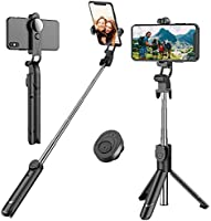 Selfie Stick, Extendable Selfie Stick Tripod with Detachable Wireless Remote and Tripod Stand Selfie Stick for iPhone...