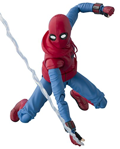 Bandai Tamashii Nations S.H. Figuarts Spider-Man (Homemade Suit) & Optional Act Wall Set Action Figure