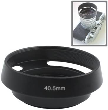 LAILINSHENG Camera Accessories 40.5mm Metal Vented Lens Hood for Leica Black