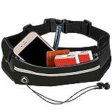 Jasonwell Cangurera Deportiva para Hombre Mujer con Comodo Cinturon Elastico y Salida de Cable de audifinos