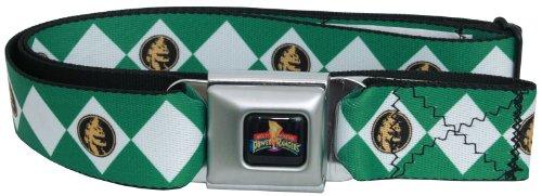 Power Rangers Green Uniform Seatbelt Mesh Belt (Power Ranger Belt)