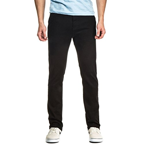 CCS Clipper Slim Fit Men's Chino Pants with Comfort Stretch - Black - 38 X 32 (Comfort Chino)