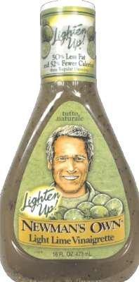 Newman's Own Light Lime Vinaigrette Salad Dressing 16 oz (Pack of 6)