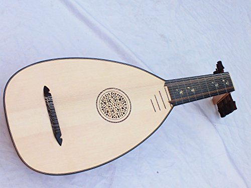 Renaissance 11 Course Olive Wood Lute Lavta with Gigbag New !!!!!!!!!!!!! - Course Renaissance Lute
