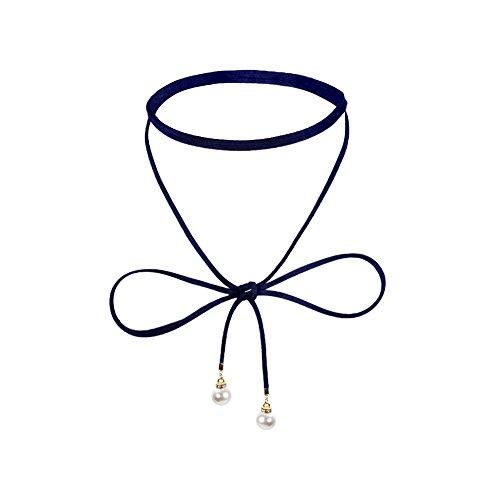 Jojoshine Pearl choker necklace Chain Necklace Set Simple Bohemia Multilayer Pendant for Women