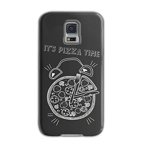 Pizza Time Clock Eat Funny Watch New Black 3D Samsung Galaxy S5 Case   Wellcoda