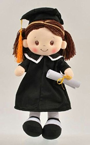 [Adorable Girl Graduation Doll Makes Great Gift for Student!] (Rag Doll Cap)