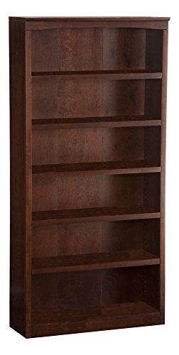 Atlantic Furniture Harvard Book Shelf, 72-Inch, Antique Walnut
