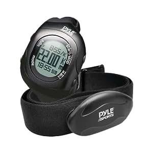 Pyle-Sport Psbthr70bk Bluetooth(R) Fitness Heart Rate Monitoring Watch With Wireless Data Transmission & Sensor (Black)