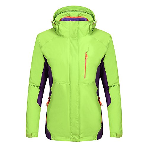 Heated Jacket Women,Waterproof Jacket with New Heating System,Auto-heated Winter Coat For Girls Woman Hooded Windbreaker (XL, Green) by redder