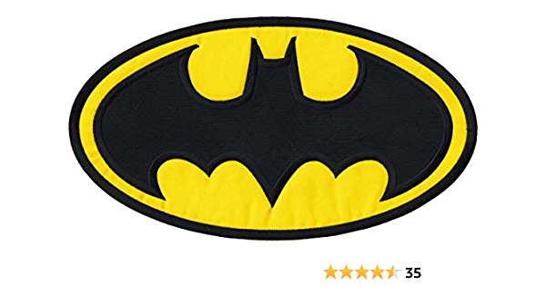 """Jumbo Cool Two Face Batman 3.5/"""" x 8/"""" Iron-on or Sew-on Embroidered Patch Badge"""