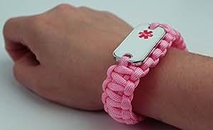 Medical Alert Bracelet Personal Protection Whistle Bracelets Be Safe Emergency Alarm System Device