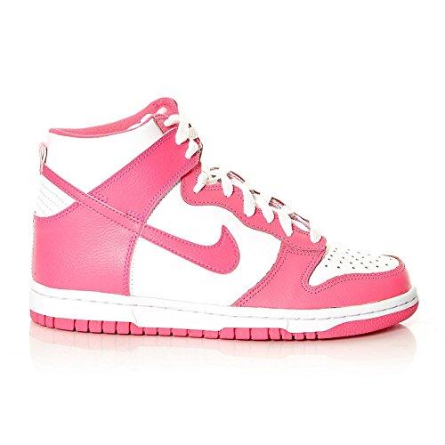 NikeNike Dunk High 308319-127 Damen Schuhe Weiß - Tiempo libre Mujer Weiß (Weiß-Rosa)