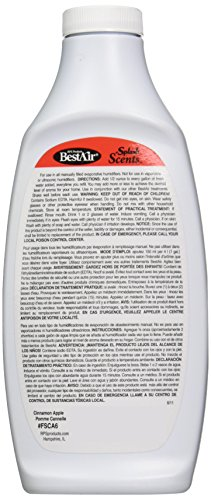 Bestair FSCA6, Cinnamon Apple Splash Scents and Water Treatment, 16 oz