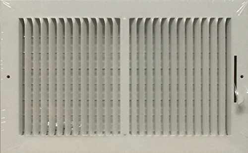 (Two-way ceiling or wall steel air register w/ multi shutter valve (14