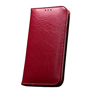Bessky(TM) 1pc 2014 KLD Luxury Leather Wallet Case Cover For Samsung Galaxy S5 i9600 (Red)