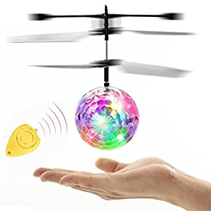 EpochAir RC Flying Ball, Dressin RC Drone Helicopter Ball LED Lighting Colorful Flyings Toy