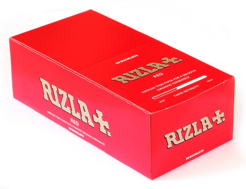(Rizla Red Regular Cigarette Rolling Papers 70mm - 50 Packets)
