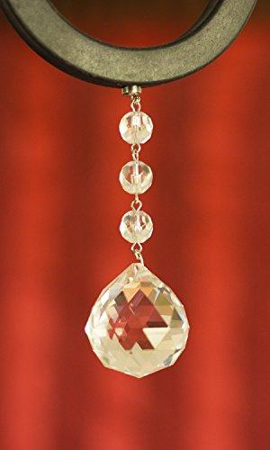 3 Light Crystal Ball Pendant Chandelier in US - 1