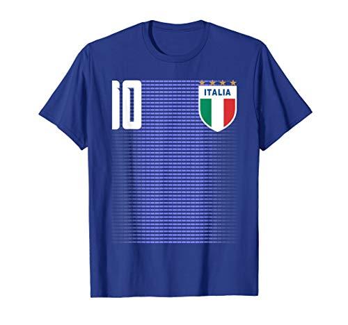 Jersey Italia T-shirt - Italia Italian Italiano Italy Calcio Soccer Jersey Shirt Tee