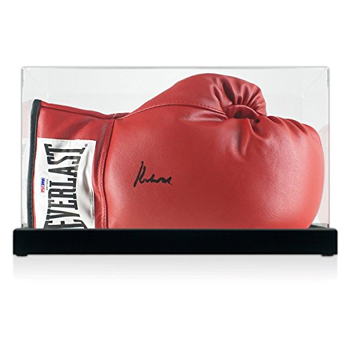 Muhammad Ali Signed Boxing Glove In Display Case (PSA DNA 4A53408) (Signed Gloves Ali Muhammad Boxing)