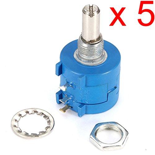 DAOKI 5PCS 3590S-2-103L 10K Ohm BOURNS Rotary Wirewound Precision Potentiometer Pot 10 Turn