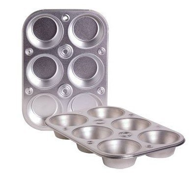 6-cup Metal Muffin / Cupcake Pan Toaster Oven Size - 3 -