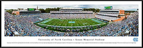 (North Carolina Football - 40.25x13.75-inch Standard Framed Picture by Blakeway Panoramas)