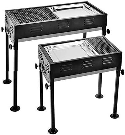 Barbecue à charbon Grill, Grill BBQ portable avec cuisson en acier inoxydable Plateau, Râper brûleur Jardin Mobile, Facile à nettoyer pour le barbecue de cuisine,65x30x67cm