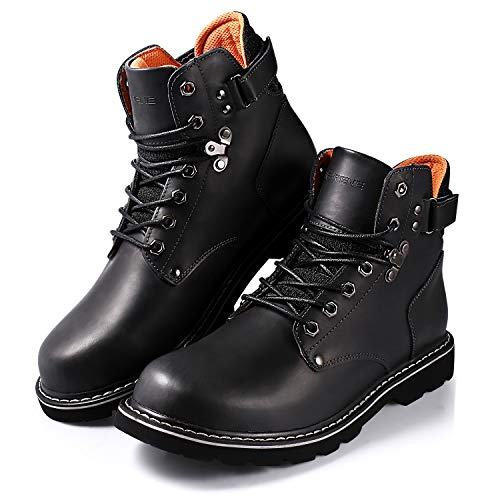 choser Mens Work Boot Steel Toe Waterproof Safety Work Shoe, Slip Resistant, Comfortable