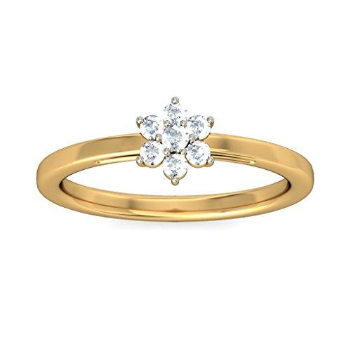 Or jaune 18K, 0,15carat Diamant Blanc (IJ   SI) en diamant