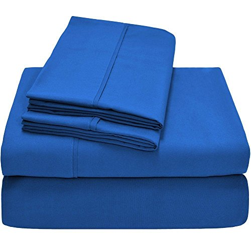 Twin XL Sheet Set, Twin Extra Long, 3-Piece Ultra-Soft Premium Bed Sheets/Medium Blue from Unknown