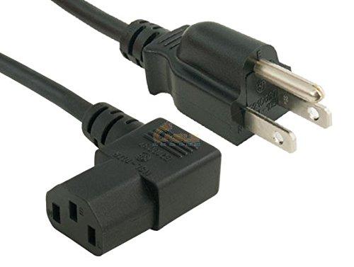 Cablelera 6' North American Power Cord, NEMA 5-15P and IEC-60320-C13 Right Angle, Black (ZADA15PC-06)