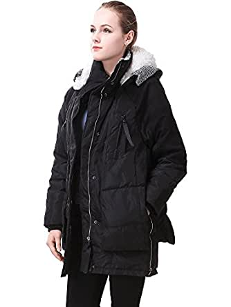 Amazon.com: MIYA Thickened Hooded Down Jacket for Women