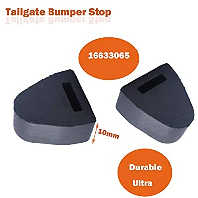 16633065 Tailgate Latch Bumper Stop for Compatible with 1999-2007 Chevy Silverado GMC Sierra Pickup, Right or Left Rubber Tailgate Bumpers Stop, Compatible with GM 16633065 Dorman 45679: Automotive