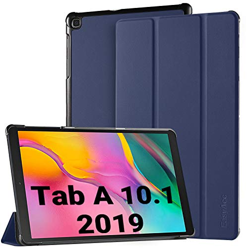 EasyAcc Case for Samsung Galaxy Tab A 10.1 2019 - Ultra Slim Lightweight Cover with Stand Function Compatible for Samsung Galaxy Tab A T510/ T515 10.1 Inch 2019 (Blue) (Best Light Stand 2019)