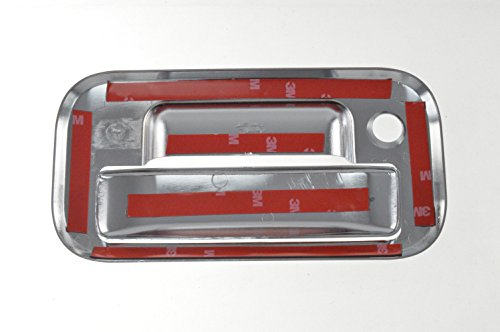Fits 04-12 FORD EXPLORER /04-13 FORD F-150/09-16 FORD F-250/F-350/F-450/F-550 w/keyhole - Chrome Tailgate Handle Covers