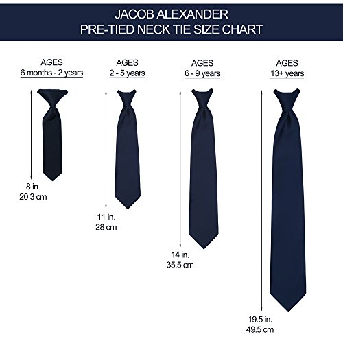 Jacob Alexander Infant's Toddler's 8'' Pretied Ready Made Solid Color Hook and Loop Band Tie - Apple Green by Jacob Alexander (Image #1)
