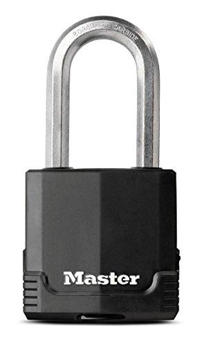 Master Lock Padlock, Magnum Covered Laminated Steel Lock, 2-1/8 in. Wide, M515XKADLH