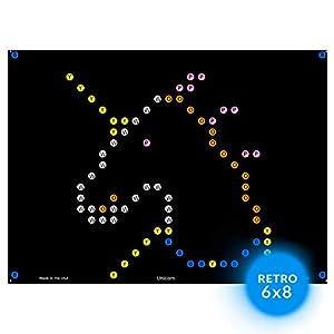 IllumiPeg Little Miss Refill templates for Basic Fun Lite Brite Magic Screen Retro Style (12 Sheets, 6×8)