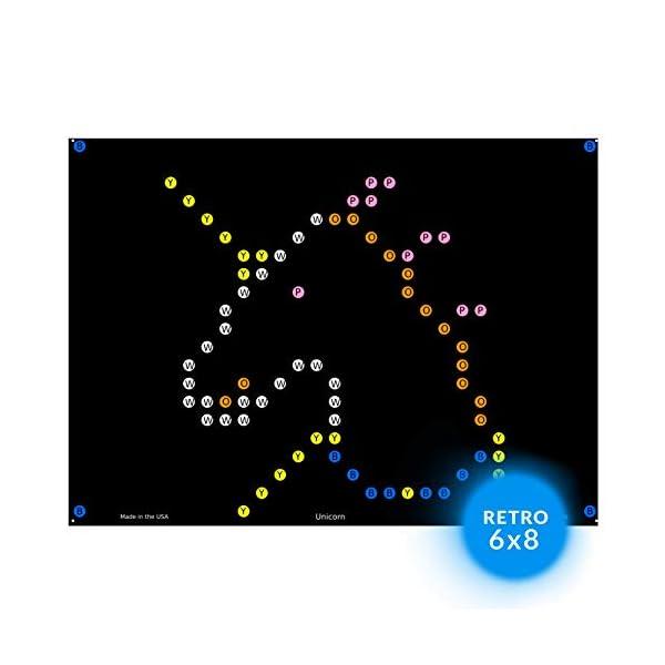 IllumiPeg Little Miss Refill templates for Basic Fun Lite Brite Magic Screen Retro Style (12 Sheets, 6x8) 3