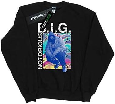 Notorious Big Herren Holographic Photo Sweatshirt Schwarz Small