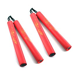 Set of 2 Rubber Foam Nunchakus by Ace Martial Arts Supply