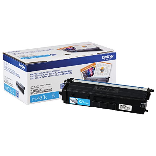 Brother Printer TN433C High Yield Toner- Retail Packaging , Cyan