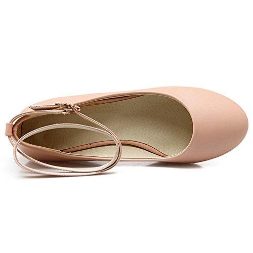 Mujer RAZAMAZA de Tacon Rosa Para Tacon de Zapatos Cuna Xgrw1qxX5 in 6e0237