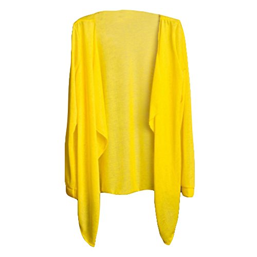 junkai Cardigans for Women One Size Spring Summer Lightweight Long Sleeve Cardigan Waterfall Open Front Cardigan Loose Top Coat Jacket Bikini Cover ups Beachwear