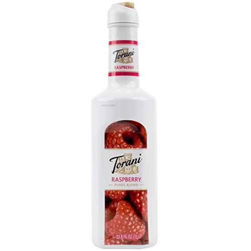 Torani 1 Liter Raspberry Puree Blend Pack of 4 by TableTop King